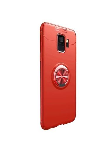 Microsonic Samsung Galaxy S9 Kılıf Kickstand Ring Holder Kırmızı